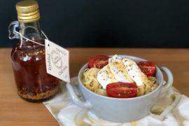 Enkel lunchpasta med vitlök och chili